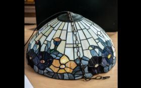 Tiffany Style Reproduction Leaded Glass Hanging Light Shade,