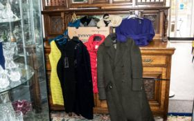 Quantity of Top Quality & Designer Ladies Fashion Items comprising: red Tokyo Laundry quilted gilet,