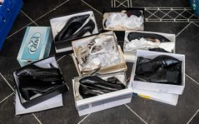 Collection of Quality Designer Ladies Shoes & Boots, all boxed, some unworn, all in good condition.