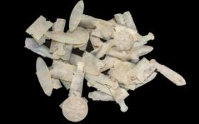 Antique Chinese Gaming Tokens, good mixed lot of 19th century mother-of-pearl gaming tokens,