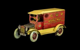 Tipp & Co Tinplate Clockwork Royal Mail Delivery Van, number plate TC 903,