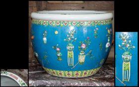 Chinese Porcelain Fish Bowl of Large Size,