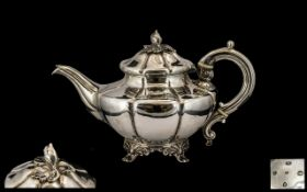 William IV Superb Quality Sterling Silver Teapot of wonderful proportions and form, with filial