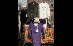 Box of Designer & Good Quality Ladies Wear, comprising: Artigiano black shift dress size 14, new;