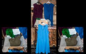 Box of Ladies Designer Clothes, some unworn, comprising: Zara white short sleeved blouse size L;