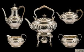 Victorian Period Hall & Co. Superb Quality 5 Piece Tea & Coffee Service of wonderful proportions/