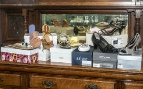 Collection of Designer Shoes, mostly unworn and boxed, comprising: Janet & Janet black patent