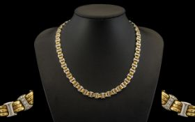 Bueche Girod Attractive and Stunning 9ct Two Tone Gold Necklace of good quality, fully hallmarked