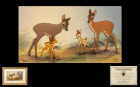 Walt Disney Company Ltd Edn No 310/350 Hand Inked and Hand Painted Cel of 'Bambi' from the feature