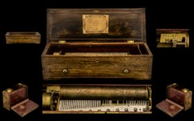 Berens Blumberg & Co Top Quality Cylinder Musical Box from the 1840s; a collector's piece comprising