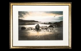 Framed Contemporary Print 'Blowing Sands'.