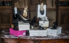 Collection of Designer Shoes, mostly unworn and boxed, comprising: Cosmo Paris brand new black