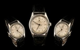 Rolex Oyster Royal Mechanical Wind Up Steel Cased Gentleman's Wrist Watch from the 1930s/40s, in