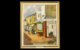 Oil Painting entitled The Lake Brighton by Monague Gosden. Dated 25/07/61.