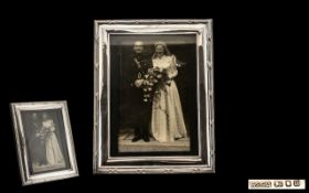 Large Silver Photo Frame, fully hallmarked, good condition in all aspects; 10 inches x 8