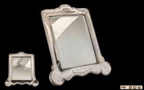Very Large Silver Bedroom Mirror, dated Birmingham 1910, oak backed, maker W. N. 37 cm in height.
