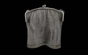 Art Deco Mesh Purse of large size 6 by 6 inches. Please see accompanying image.