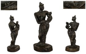 Leon Underwood (British 1890-1975) Bronze of the African Madonna,
