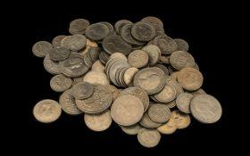 Bag of British Pre Decimal Coins, half crowns,