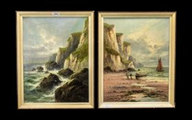 Frank Hider Pair of Signed Oil Paintings