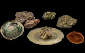 Box of Miscellaneous Mineral Modules - M