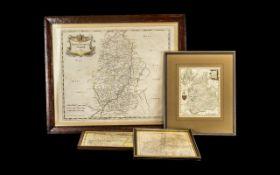 Collection of Framed Vintage Maps compri