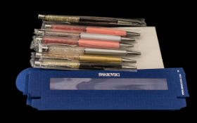 Collection of Swarovski Pens ( 7 ) In To