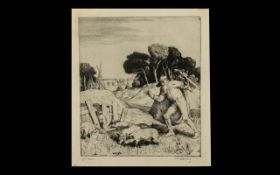 William Strong Original Etching ( WS.92