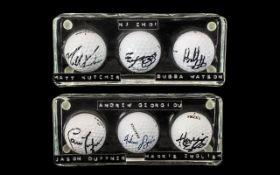 Golf Interest - Signed Golf Balls includ