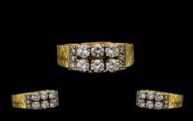 18ct Gold Attractive Diamond Set Dress R