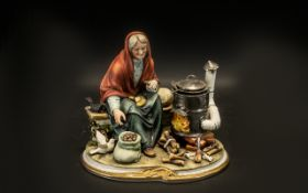 Capodimonte Statement Piece Woman Cookin