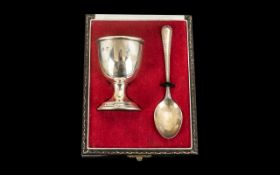 Sterling Silver Child's Egg & Spoon Set