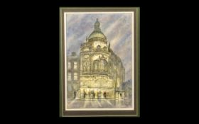 Print of Grand Theatre Blackpool, signed