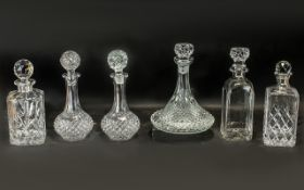 Collection of Cut Glass Decanters, compr