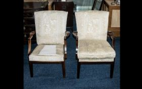 Pair of Upholstered Easy Chairs. Opened
