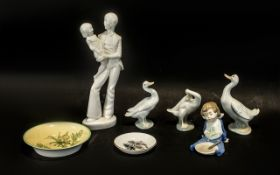 Collection of Lladro & Nao Porcelain, co