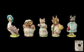 Beswick Beatrix Potter Figures, Five in