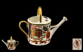 Royal Crown Derby Miniature Watering Can