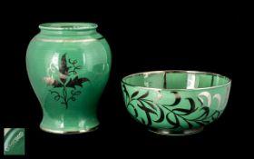 Wedgwood Silver Resist Art Pottery Green