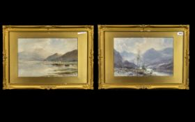 """Two Watercolours of Western Scotland, by Edward Arden (1847-1910). Both 10"""" x 15."""