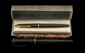 Two Vintage Fountain Pens, one 'Jewel', one unknown, both with 14k gold nibs,