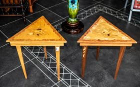 Two Modern Occasional Tables the lid when lifted plays a musical tune.