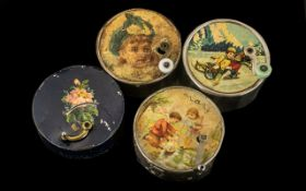 Collection Of Four Manivelle Music Boxes One in Original Cylinder Card Box Marked Thorens,