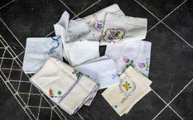 Six 1930s Cotton Tablecloths,