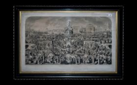 Large Antique Print 'The Worship of Bacchus' depicting the drinking customs of society by George