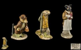 Beswick Beatrix Potter Trio of Figures ( 3 ) In Total. Comprises 1/ ' Johnny Town Mouse ' with Bag.