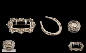 Antique Period Collection of Small Silver Objects ( 3 ) In Total.