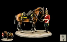 Michael Sutty Hand Painted Porcelain Limited Numbered Edition Military Figure 'Royal Inniskillin