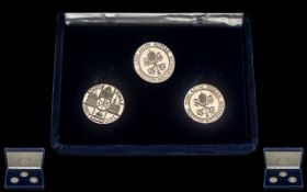 Set Of Three Millennium Silver Coins From Rome Complete In Fitted Case