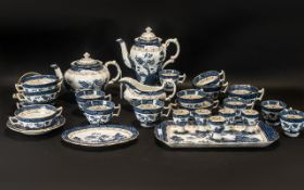 Collection of Booths 'Real Old Willow' Pattern Porcelain, to include: Tea Pot, Coffee Pot, Tray,
